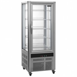 Tefcold UPD200 Refrigerated Anodised Silver Display Case with 5 Shelves