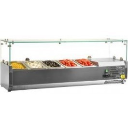 Tefcold VK33-120B SS Gastronorm 5 Pan Topping Shelf