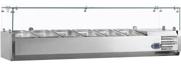 Tefcold VK38-200B Stainless Steel Refrigerated Topping Unit
