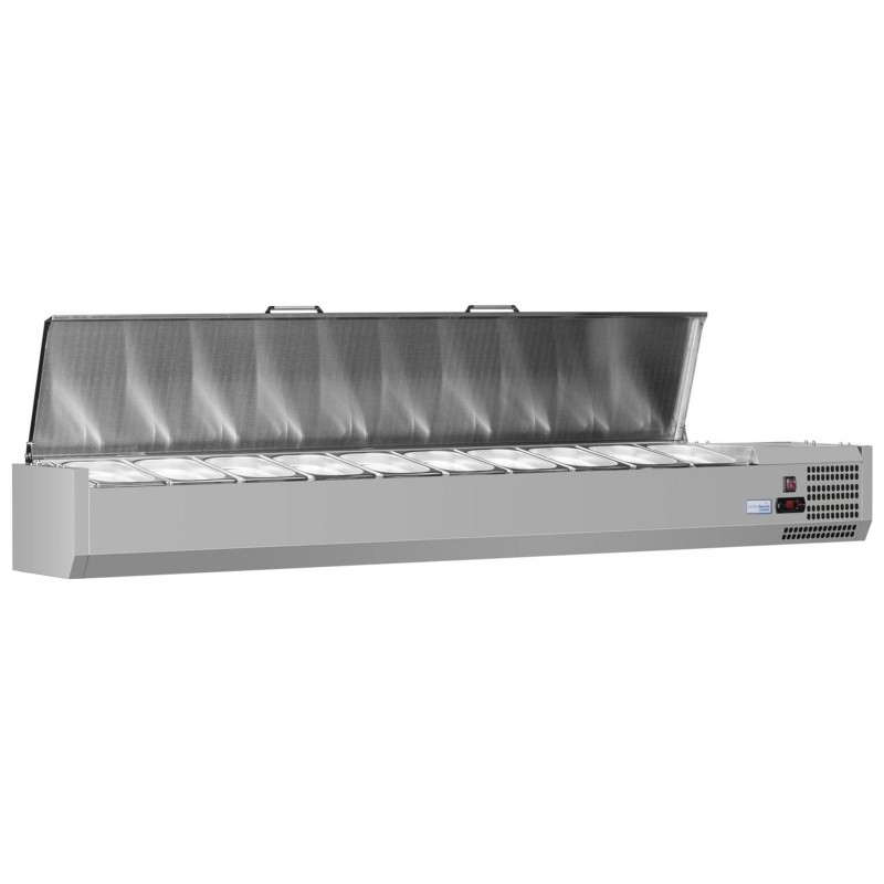 Interlevin VRX1200/330 SS Stainless Steel Gastronorm Topping Shelf