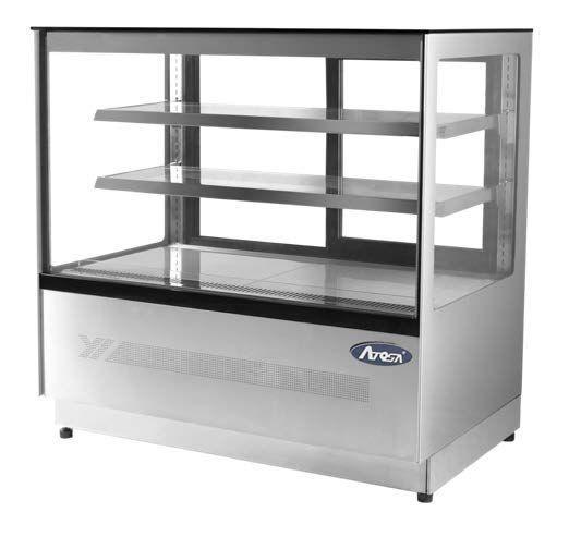 Atosa WDF127F Square Glass Deli Counter with Mirror Interior Finish