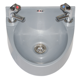 --- MECHLINE WS1-TX-BD --- Hand Wash Station with AquaTechnix Dome Taps