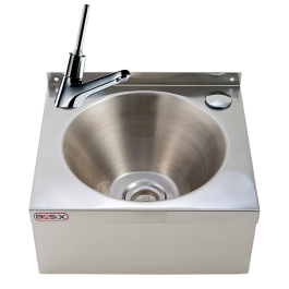 --- MECHLINE WS2-MT --- Hand Wash Station with 'auto shut off' Lever Tap and Manual Mixer