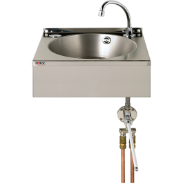 --- MECHLINE WS4-KVS --- Hand Wash Station with Hands-Free Operation and Manual Mixer