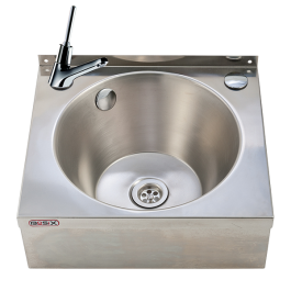 --- MECHLINE WS4-MT --- Hand Wash Station with 'auto shut off' Lever Tap and Manual Mixer
