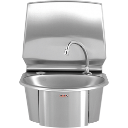 --- MECHLINE WS6-KVS --- Hand Wash Station with Hands-Free Operation and Manual Mixer