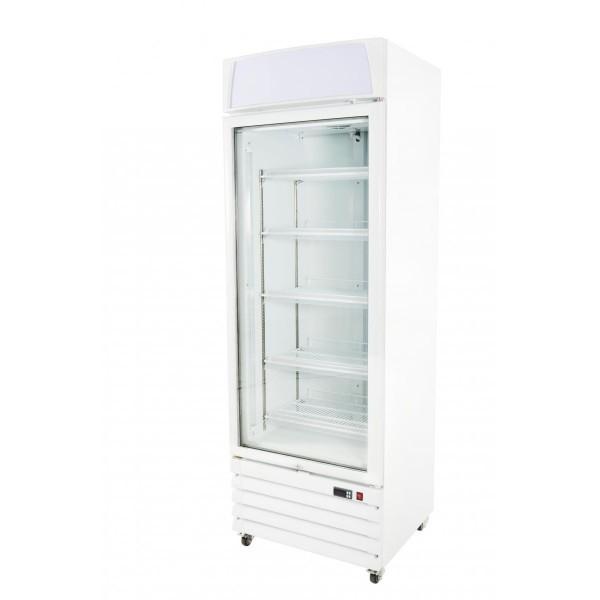 Prodis XD1NW Hinged Single Glass Door Display Freezer with LED Lights