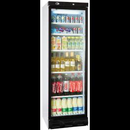 Prodis XD380LH Left Hand Hinged Single Glass Door Display Refrigerator