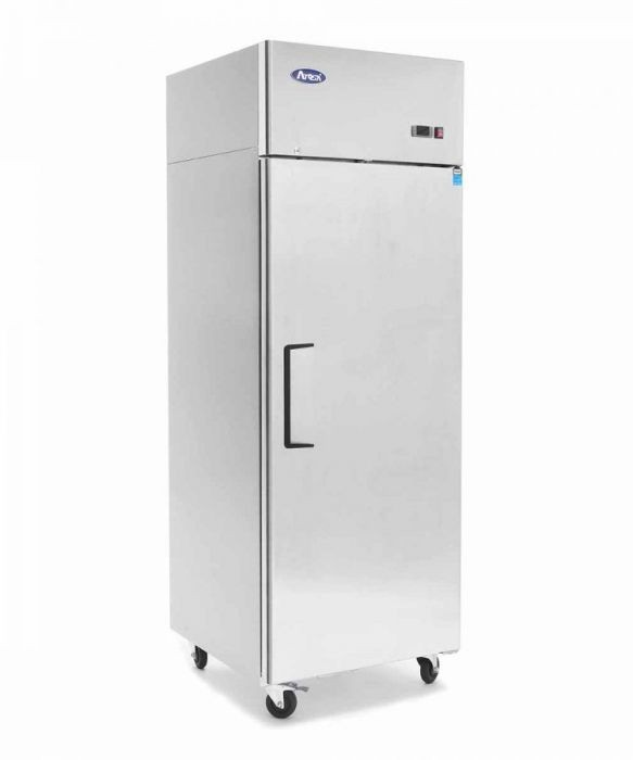 --- ATOSA YBF9207GR --- Slimline Stainless Steel Top Mounted Single Door Freezer