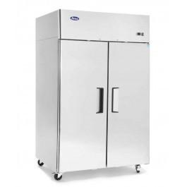 Atosa YBF9219GR Slimline Stainless Steel Top Mounted Twin Door Freezer