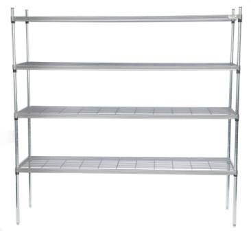 Craven 4SWM600-400 4 Tier Stainless Steel Shelving D400mm