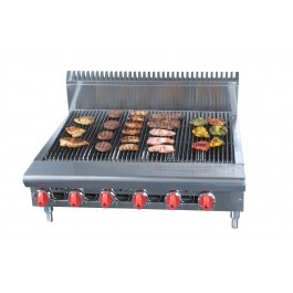"""American Range ARRB48A Radiant 48"""" Chargrill with 8 Burners"""