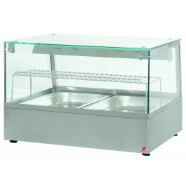 North  HDW2 Heated Counter Top Display Case for Warming Cooked Products