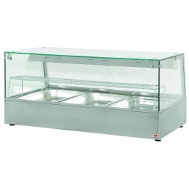North  HDW3 Heated Counter Top Display Case for Warming Cooked Products