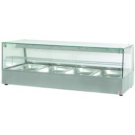North  HDW4 Heated  Display Counter with Humidity & Halogen Heat Lamps