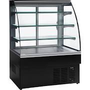 Trimco ZURICH II 120 CHOC Black Chocolate Display Cabinet