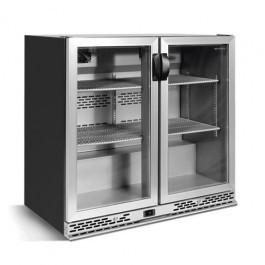 --- INFRICO ZXS2 --- Charcoal Bottle Cooler with Black Double Aluminium Doors