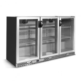 --- INFRICO ZXS3 --- Charcoal Bottle Cooler with Aluminium Triple Hinged Doors