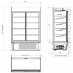 Framec SUPER SUNNY19 Wall Site Multideck with Doors